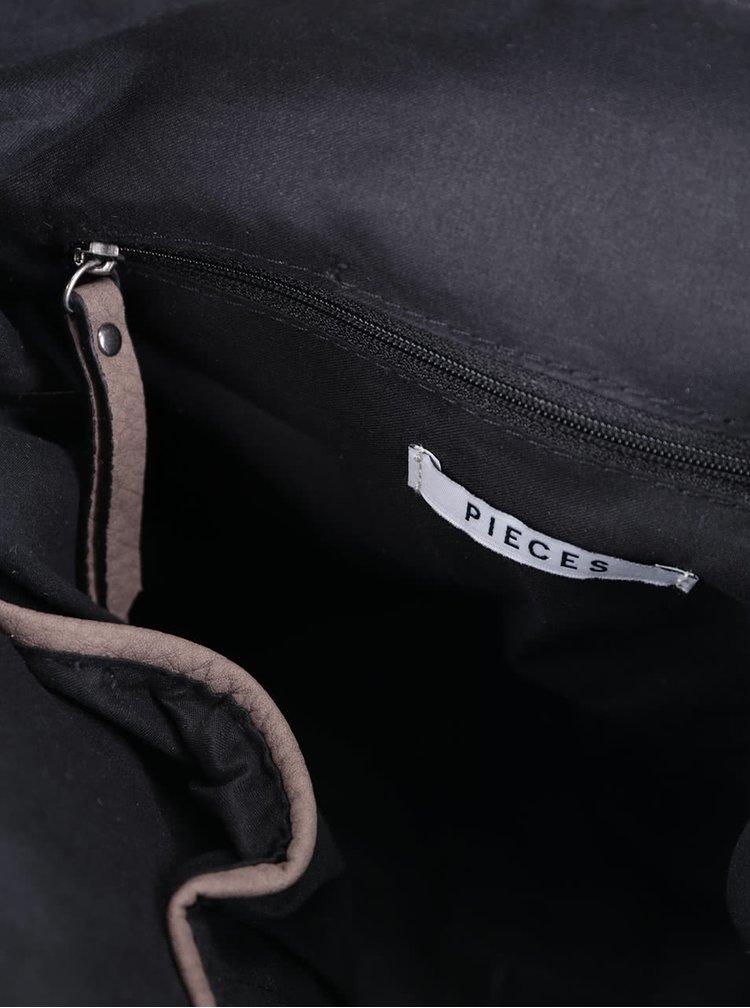 Hnědá crossbody kabelka Pieces Pebee