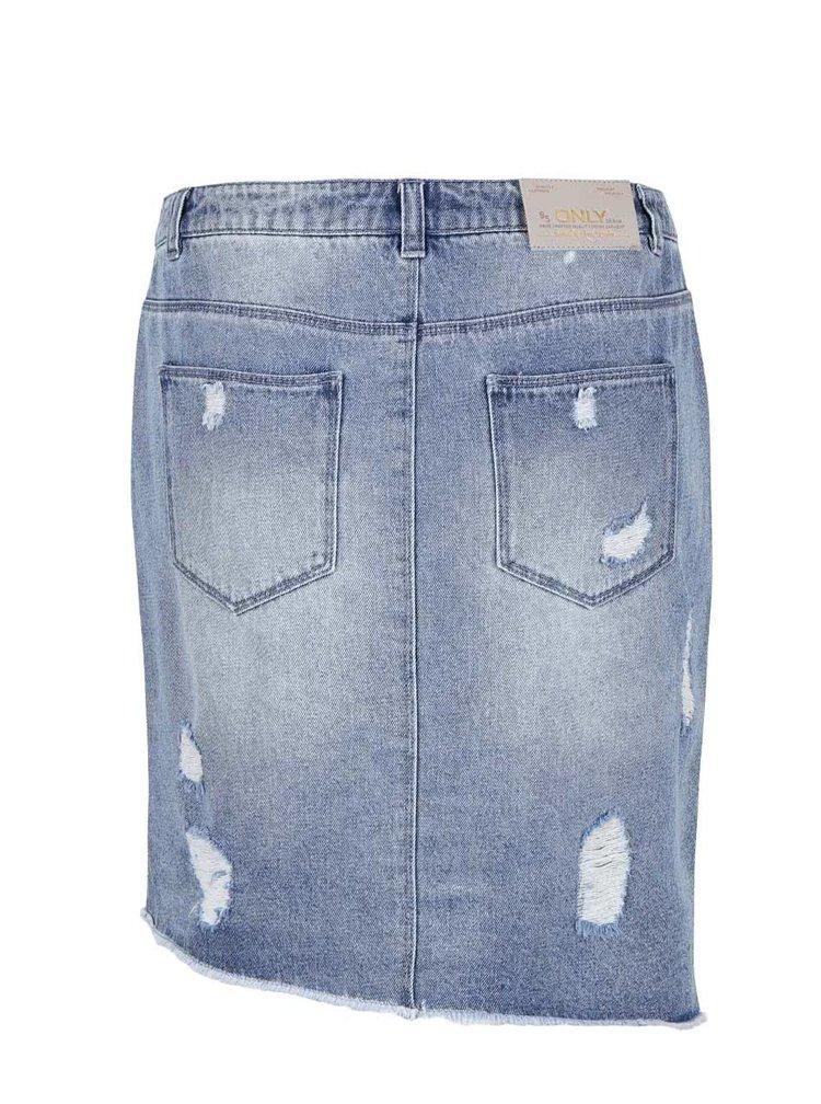 Modrá rifľová sukňa ONLY Ava Reg
