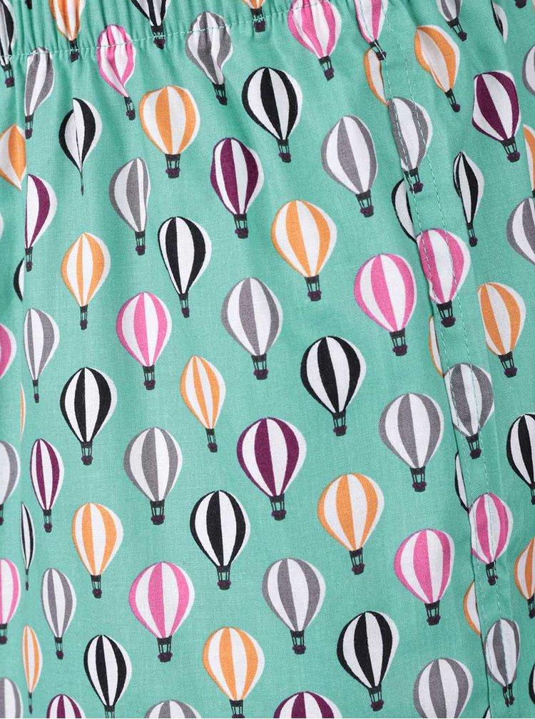 Tyrkysové trenírky Happy Socks Balloons