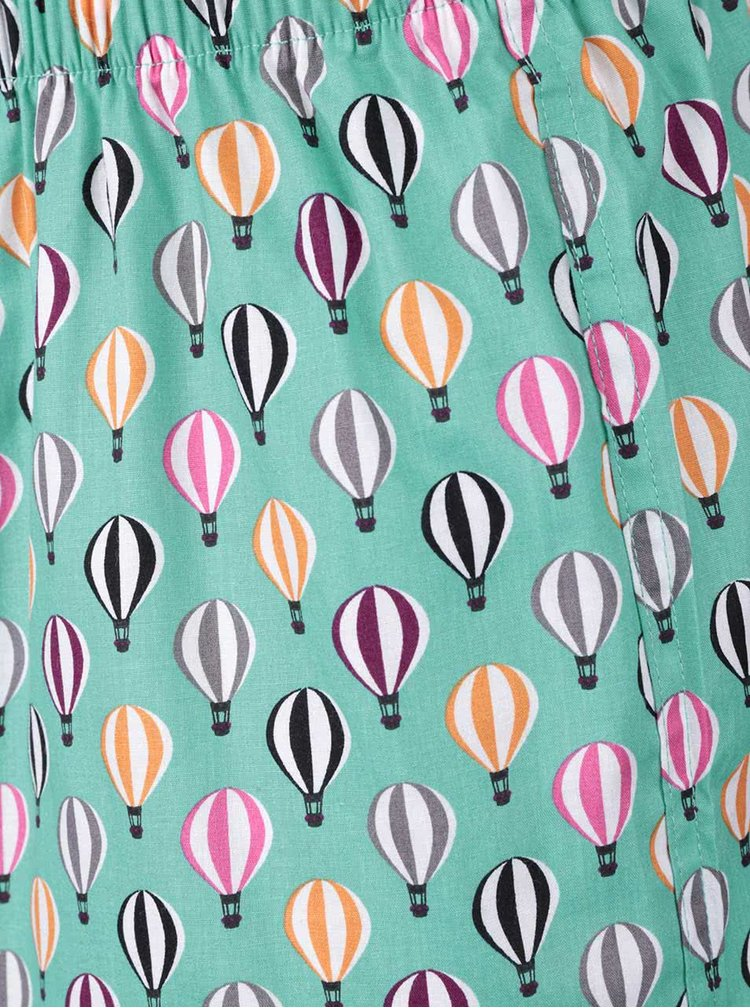 Boxeri verzi cu imprimeu Happy Socks Balloons