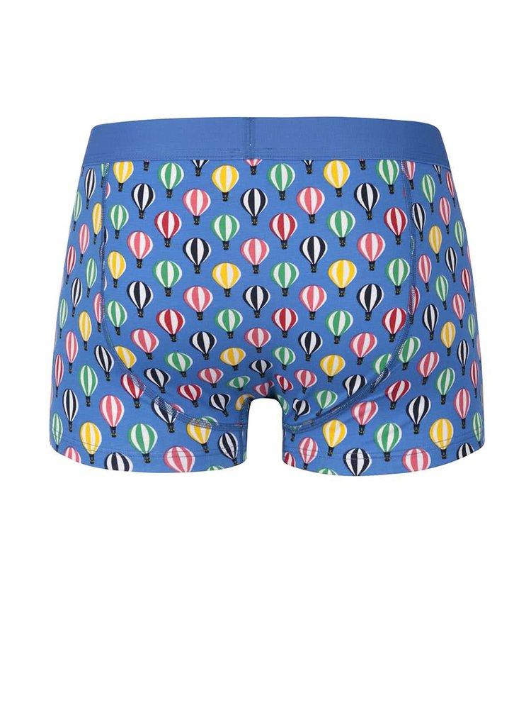 Modré boxerky se vzorem Balloons Happy Socks
