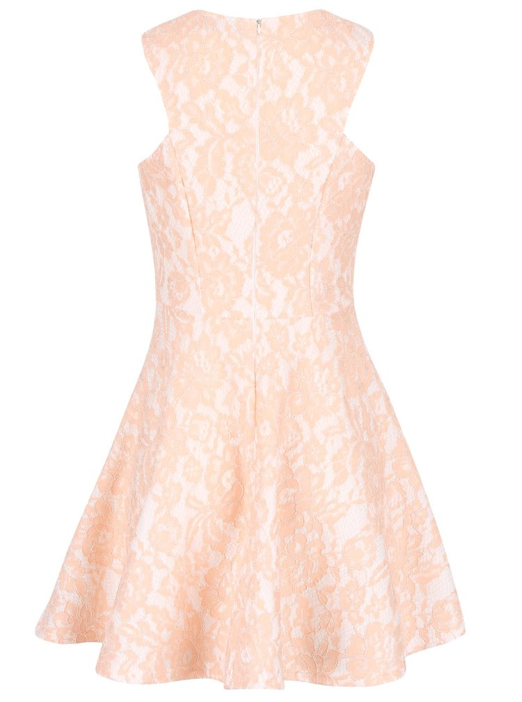 Meruňkové vzorované šaty AX Paris