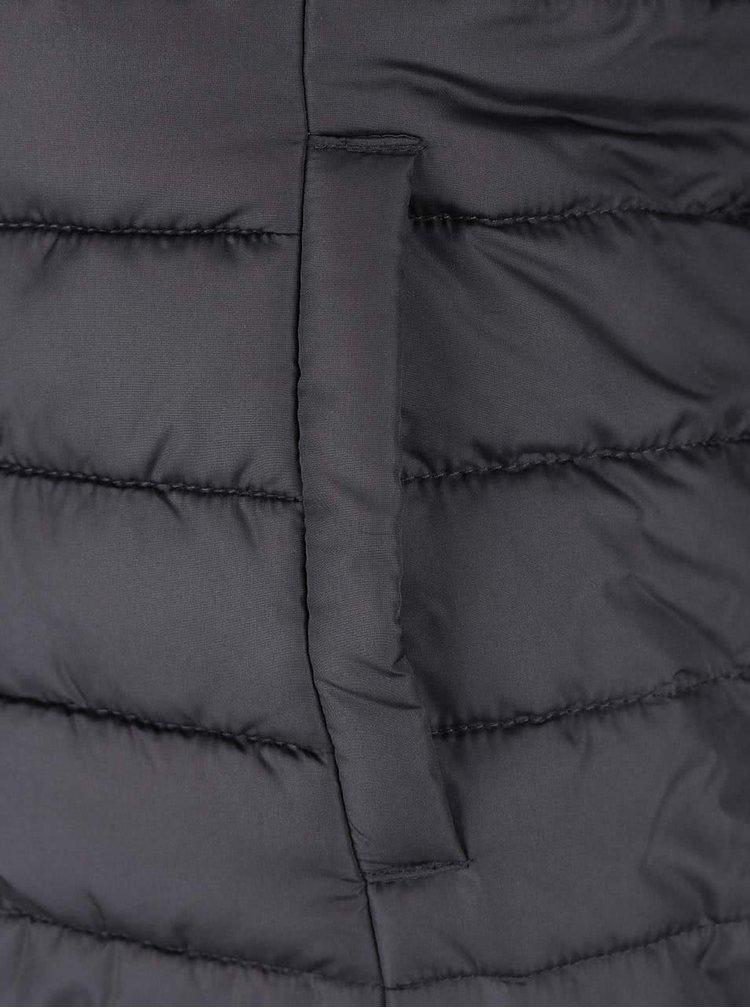 Šedá vesta na zip ONLY Marit Quilted