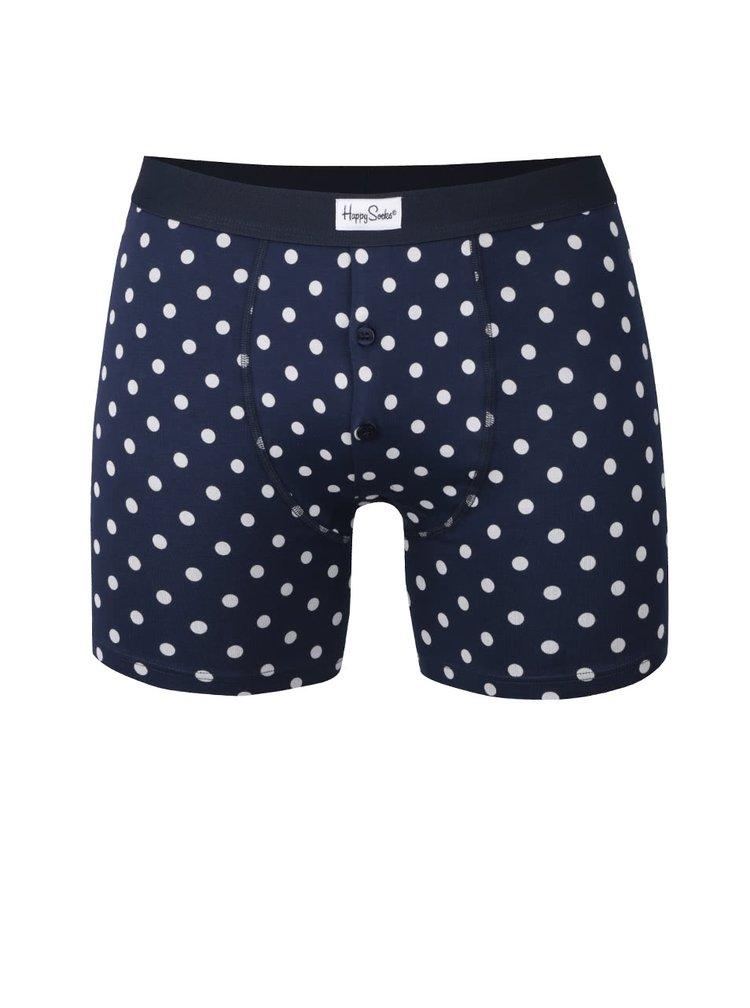 Modré boxerky s bodkami Dot Happy Socks