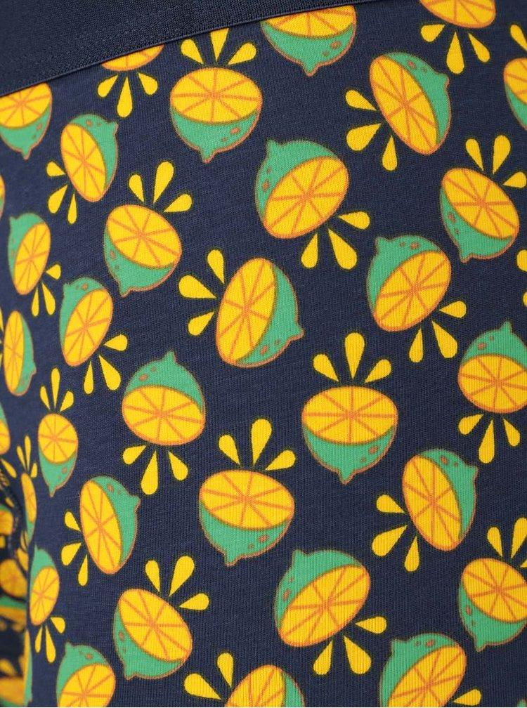 Boxeri bleumarin cu imprimeu Lime Happy Socks