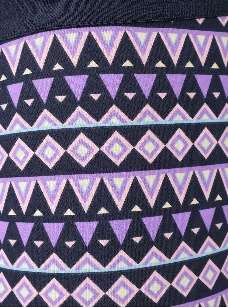 Fialovo-modré boxerky Temple Happy Socks