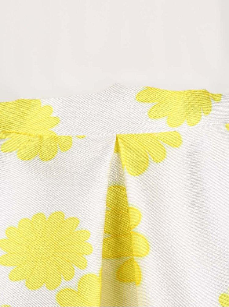 Krémové šaty so žltými kvetmi AX Paris