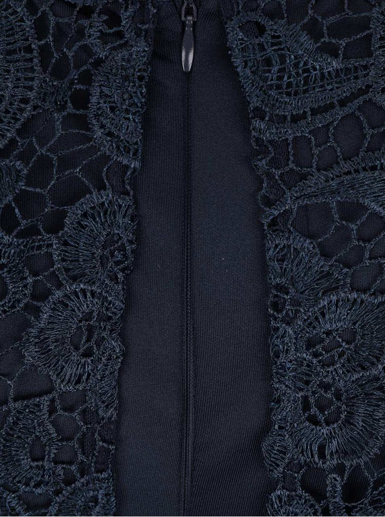 Tmavě modré maxišaty s krajkou AX Paris