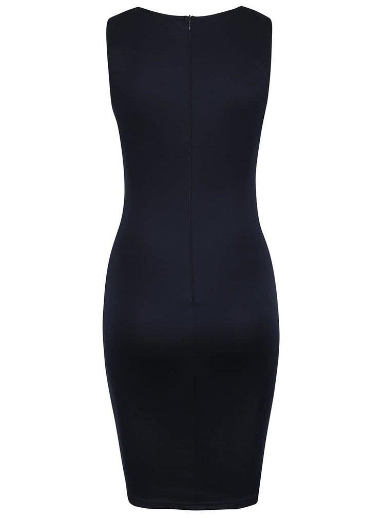 Tmavě modré šaty s krajkou ve výstřihu AX Paris