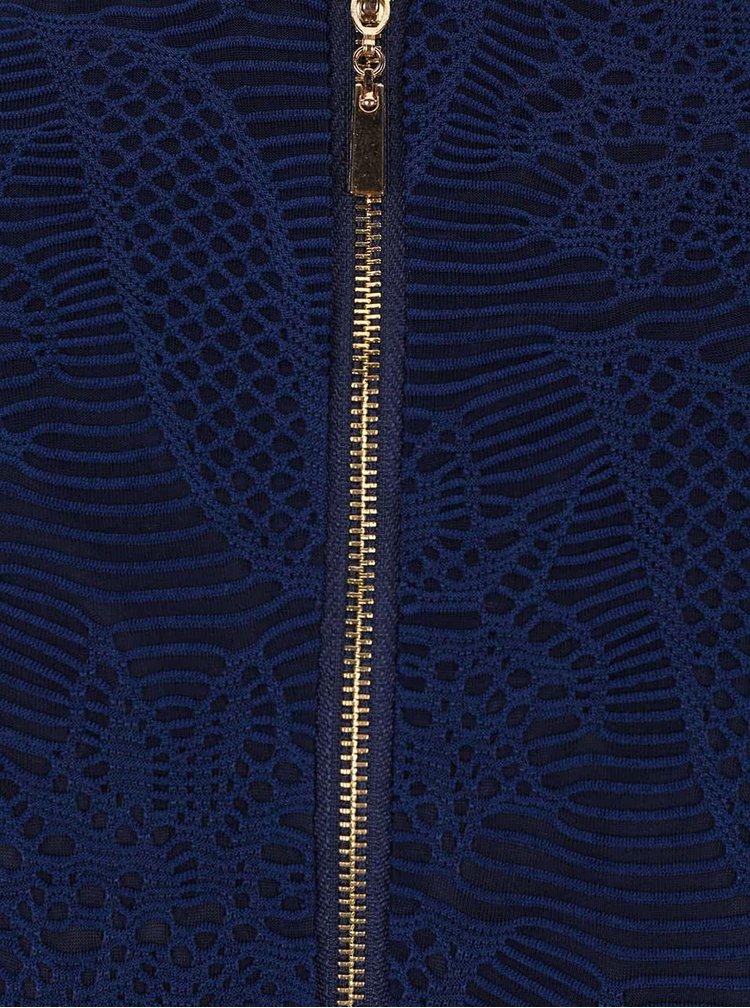 Rochie albastru închis Mela London din dantelă