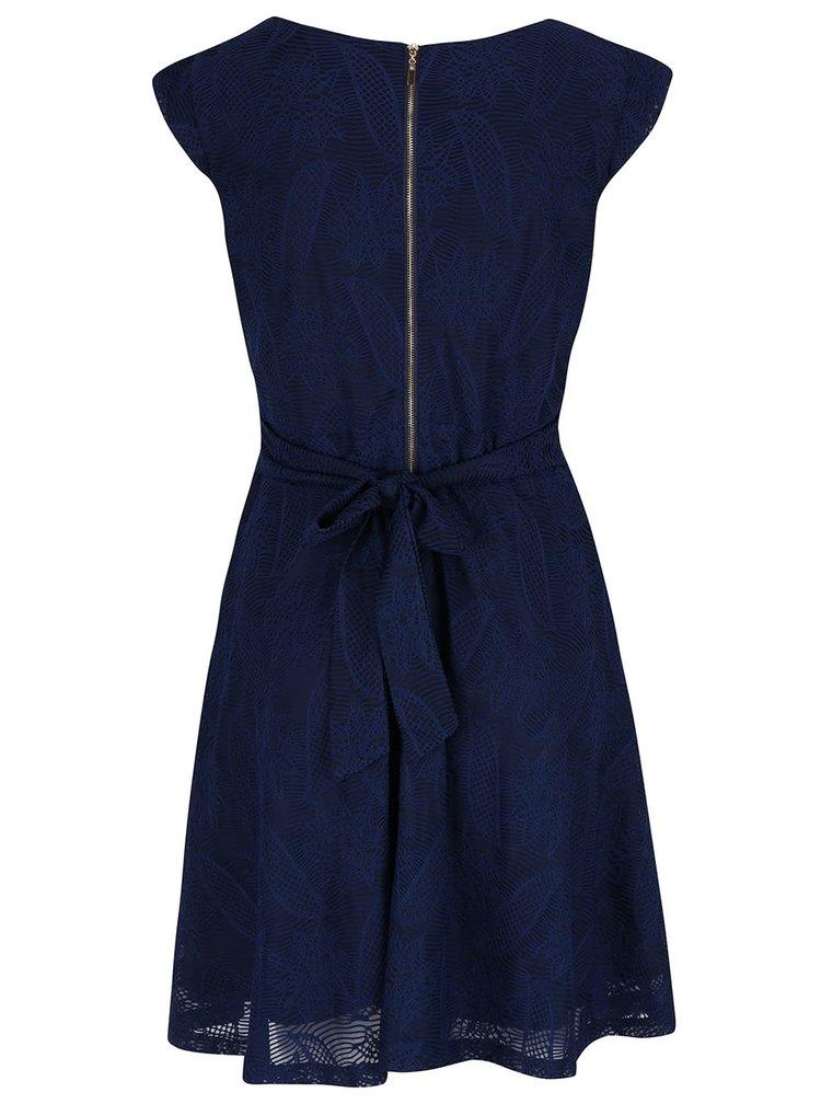 Rochie albastru inchis Mela London din dantela
