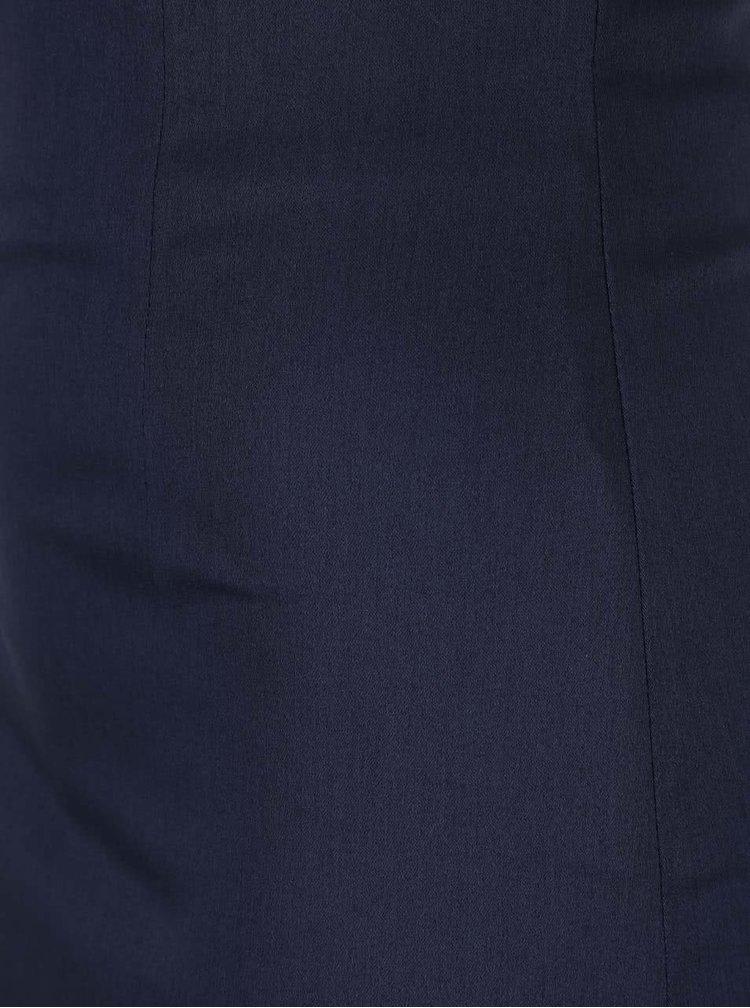 Tmavomodrá sukňa s vyšším pásom Dolly & Dotty Falda