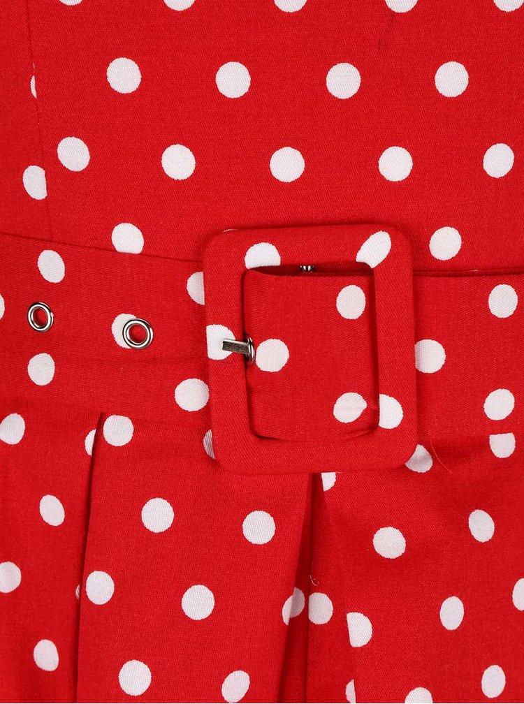 Červené šaty s puntíky Dolly & Dotty Lola