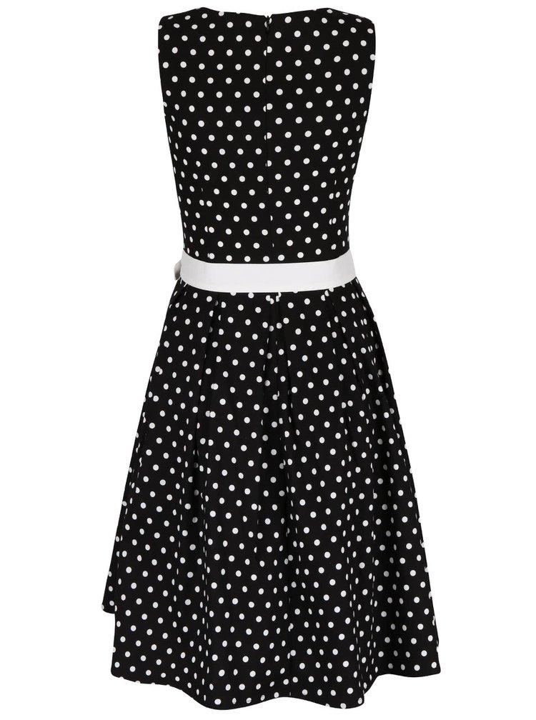Černé puntíkované šaty Dolly & Dotty Lola