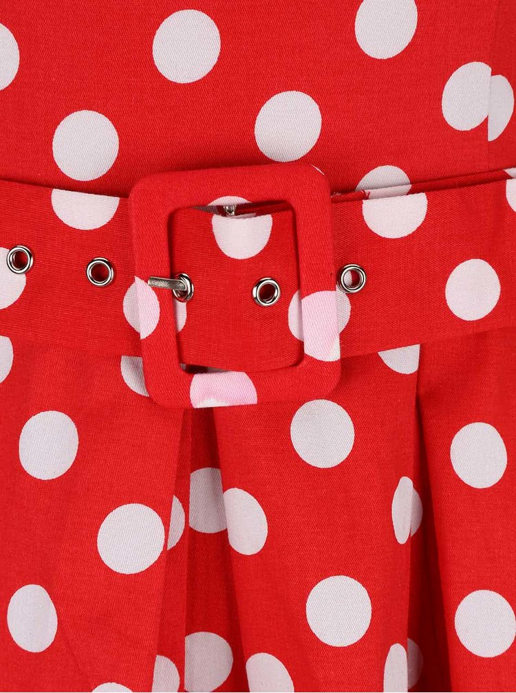 Červené puntíkované šaty Dolly & Dotty Annie