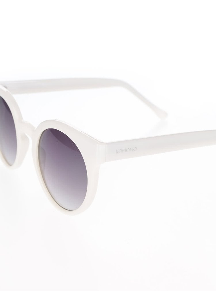 Krémové dámske slnečné okuliare Komono Lulu