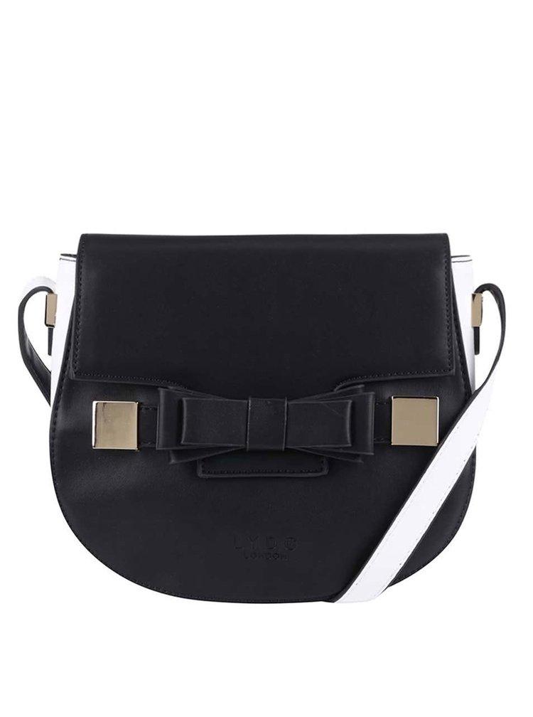 Čierno-biela menšia kabelka so sponou LYDC