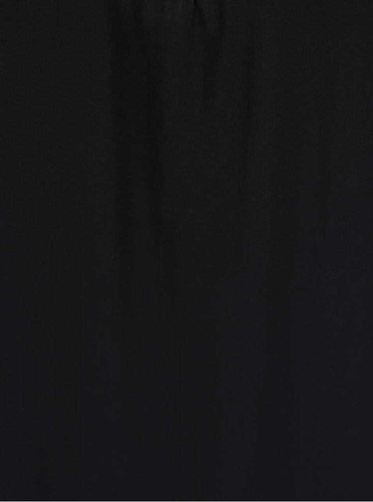 Černá halenka s pásky v dekoltu TALLY WEiJL