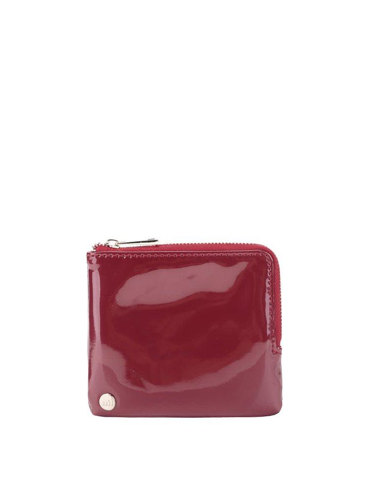 Vínová dámska lesklá peňaženka Mi-Pac Coin Holder