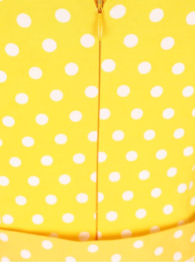 Rochie galbenă cu buline Dolly & Dotty Wendy