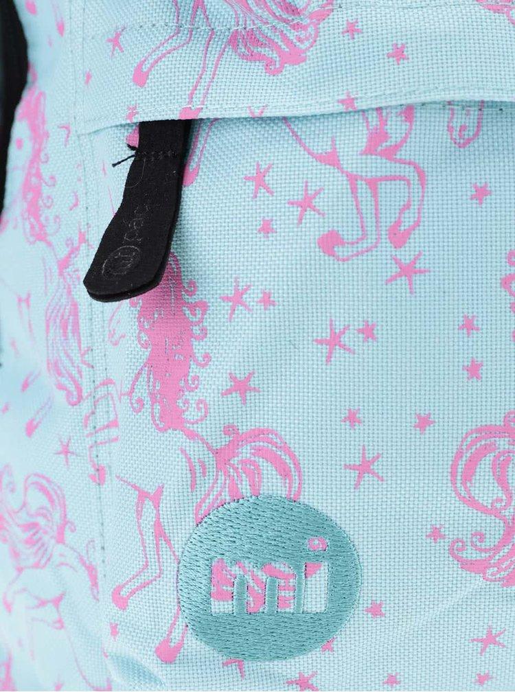 Tyrkysový dámský batoh s růžovým vzorem Mi-Pac Unicorns