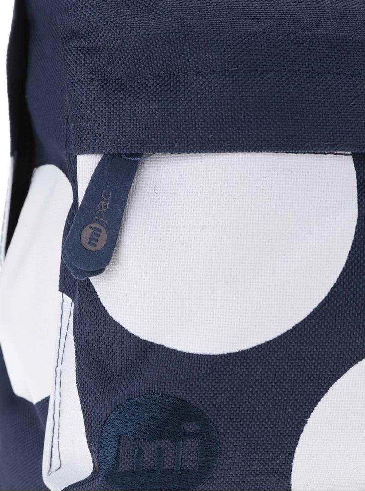 Bielo-modrý dámsky batoh s bodkami Mi-Pac All Polka XL