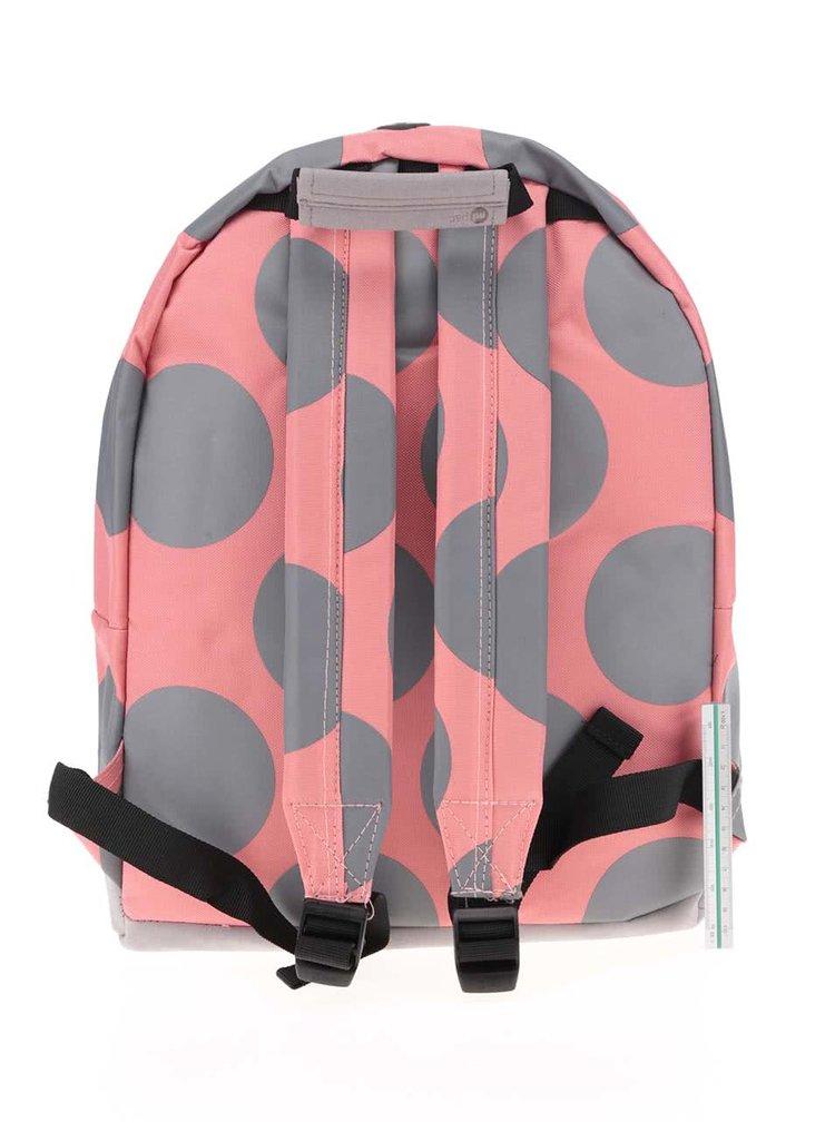 Sivo-ružový dámsky batoh s bodkami Mi-Pac All Polka XL