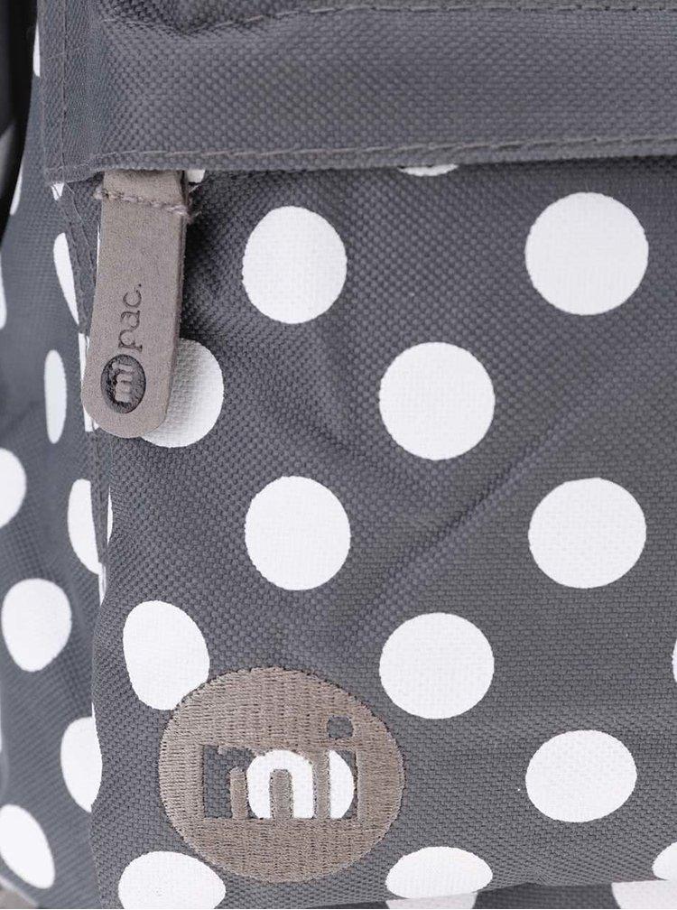 Bielo-sivý dámsky batoh s bodkami Mi-Pac All Polka