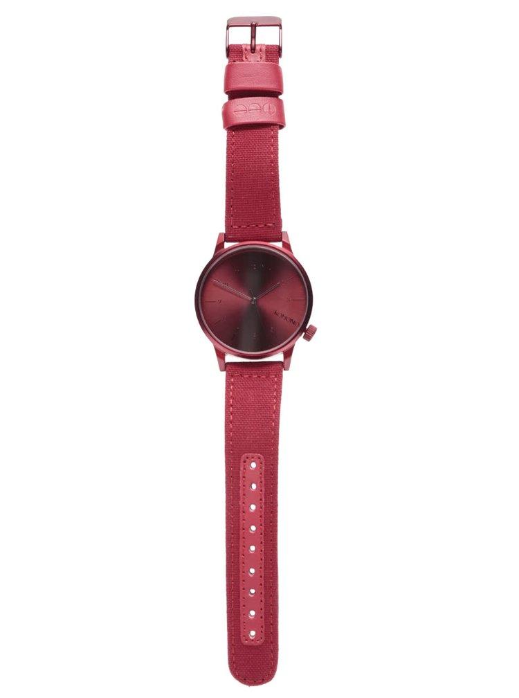 Ceas bărbătesc roșu Komono Winston Brogue