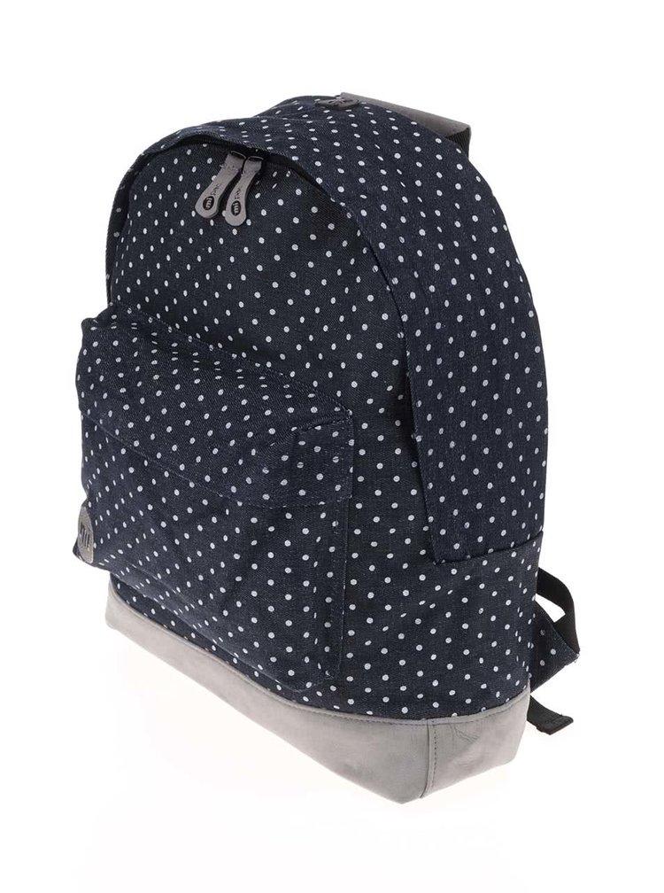 Tmavomodrý batoh s bielymi bodkami Mi-Pac Denim Spot
