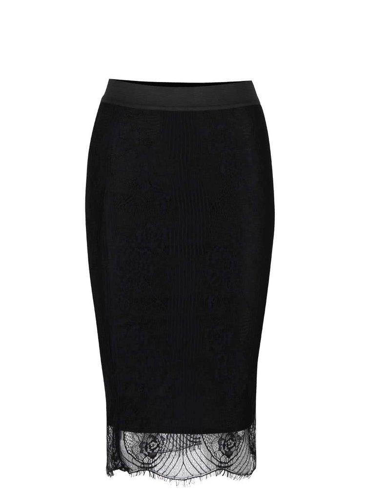 Černá krajkovaná sukně TALLY WEiJL
