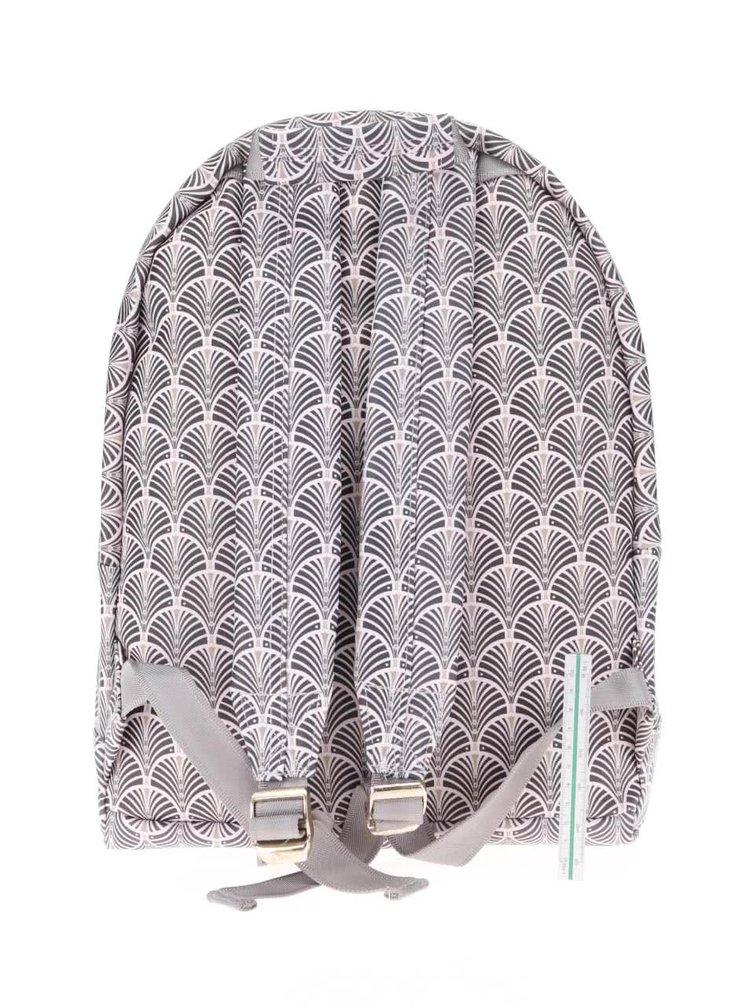 Sivo-ružový dámsky batoh Mi-Pac Art Deco 17 l