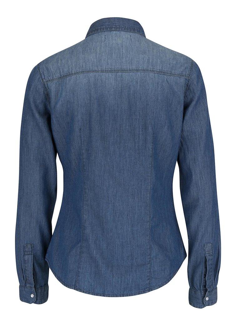 Modrá rifľová košeľa s dlhým rukávom TALLY WEiJL