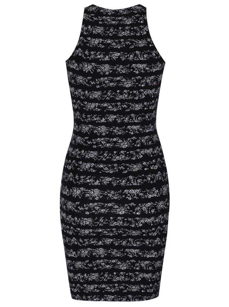 Bílo-černé vzorované šaty TALLY WEiJL