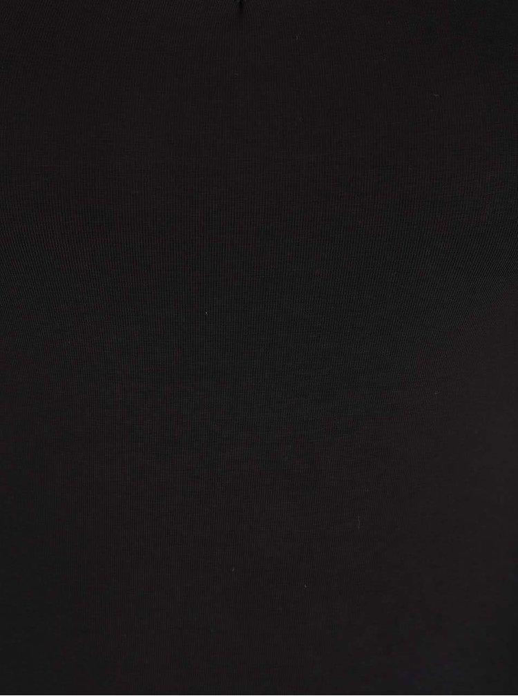 Černé šaty s páskovým dekoltem Miss Selfridge