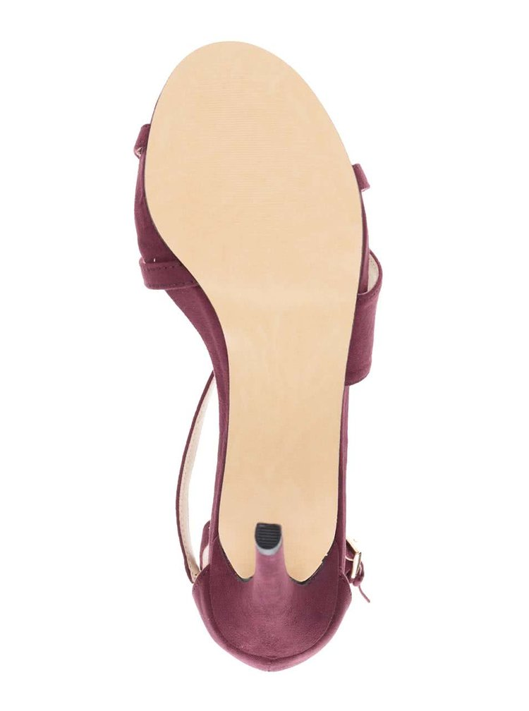 Sandale roșu burgund Miss Selfridge cu călcâi acoperit