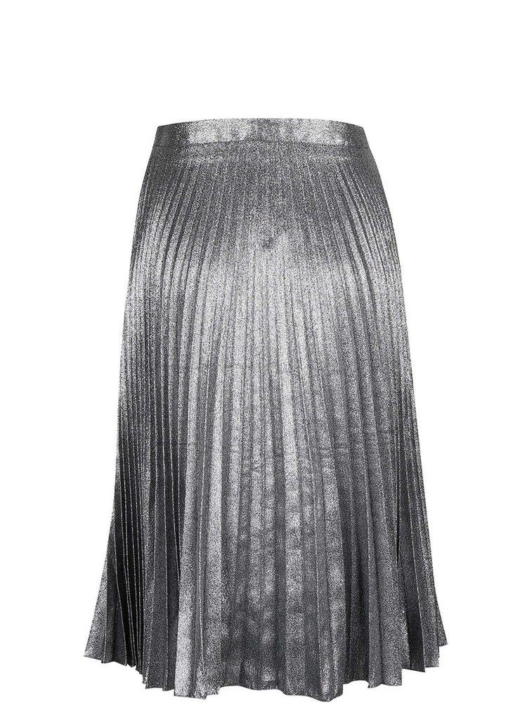 Plisovaná sukně ve stříbrné barvě Miss Selfridge