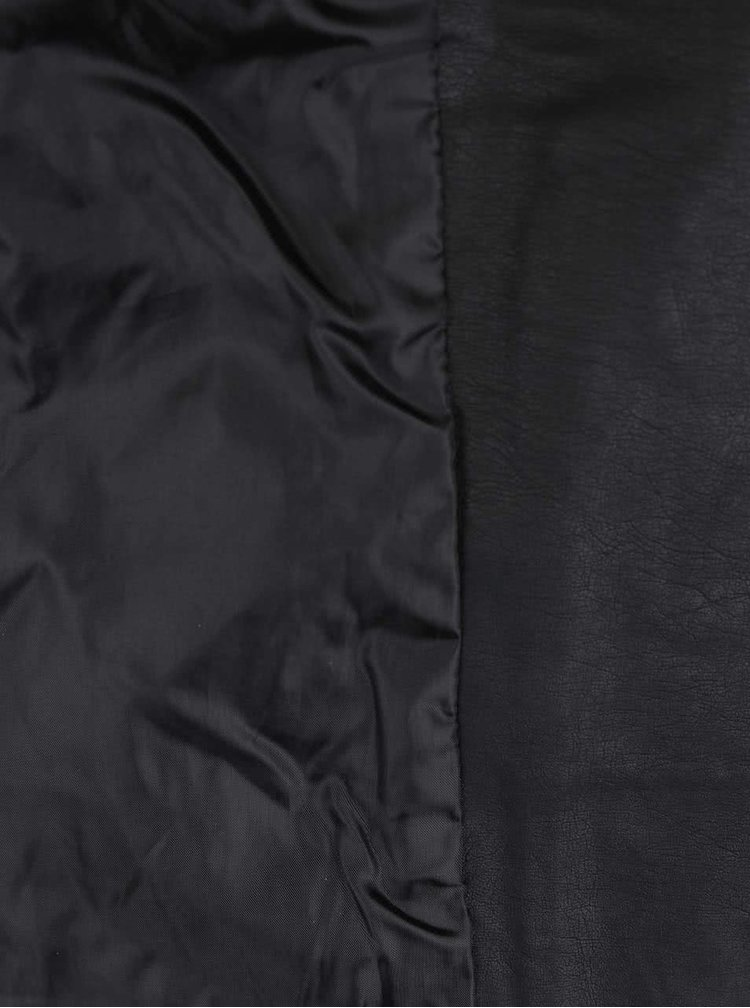 Černý koženkový křivák Haily's Juna