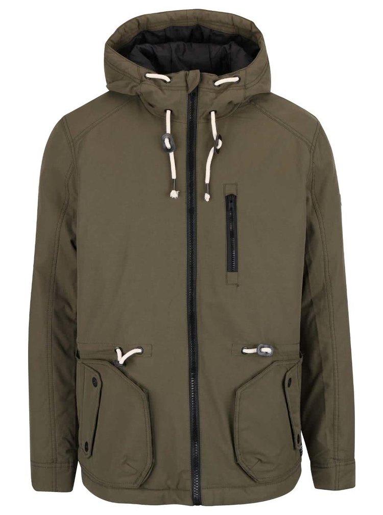Khaki bunda s kapucňou Blend