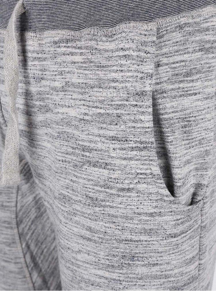 Pantaloni sport Blend gri melanj din bumbac
