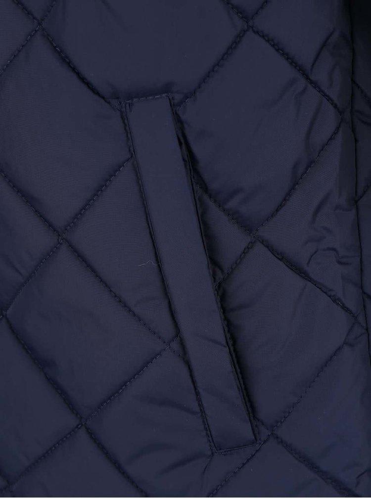 Tmavomodrá prešívaná bunda Blend