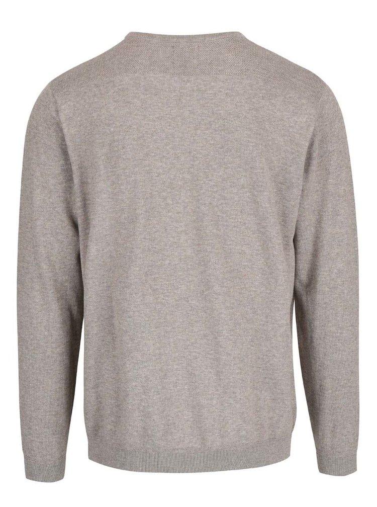 Béžovohnědý svetr Menswear London