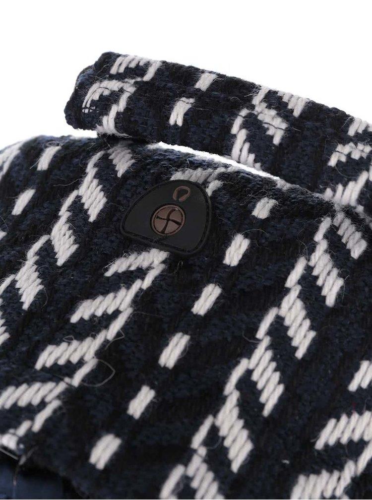 Tmavě modrý prošívaný unisex batoh Mi-Pac Folk Knit 17 l