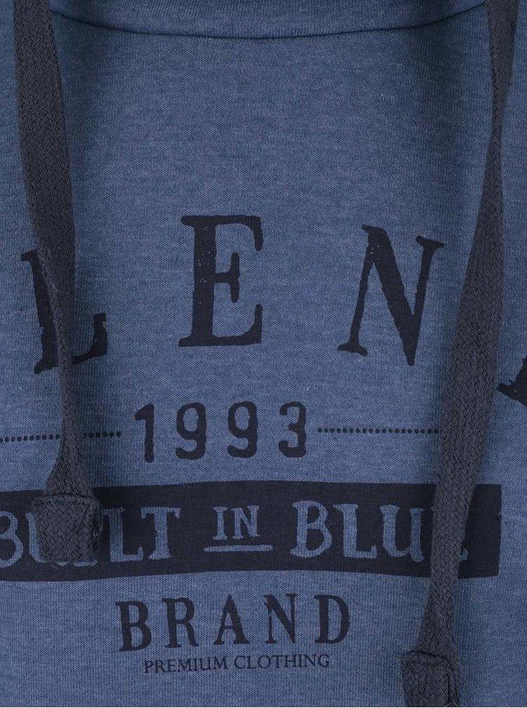 Modrá mikina s límcem a potiskem Blend