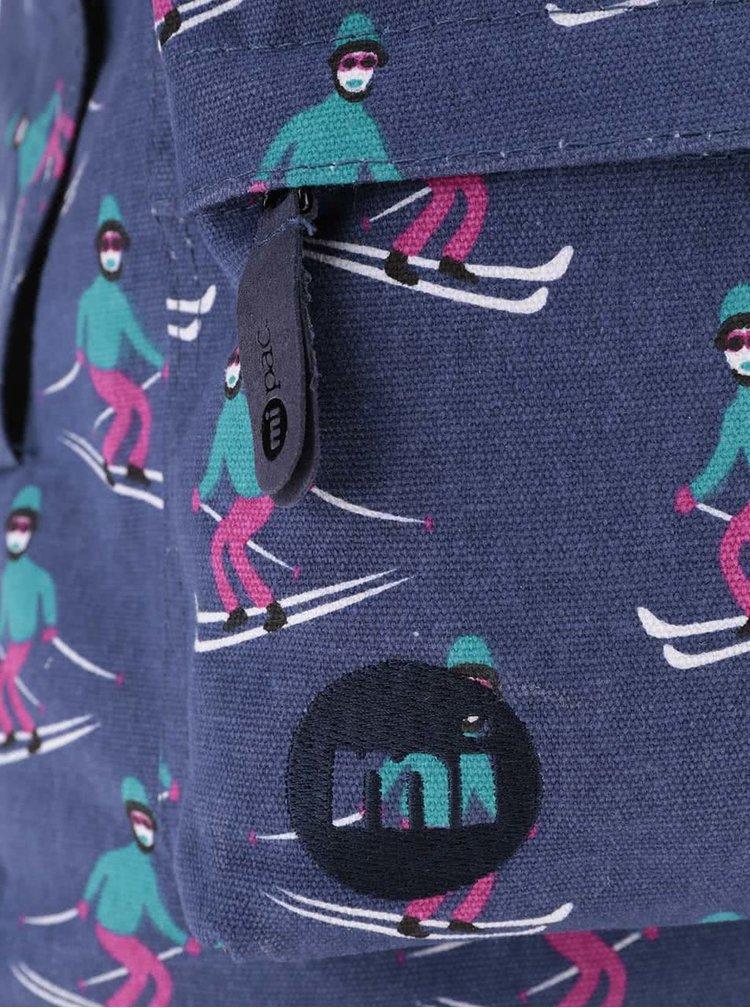 Tmavě modrý vzorovaný unisex batoh Mi-Pac Ski 17 l