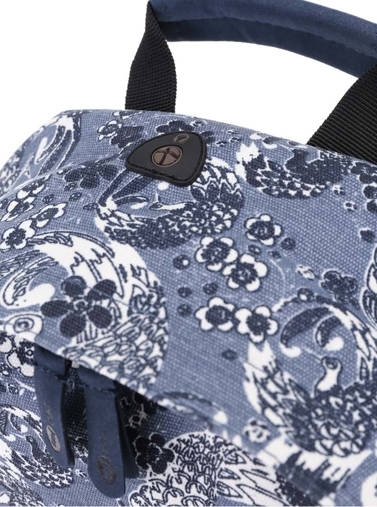 Modrý dámský vzorovaný batoh Mi-Pac Oriental Birds