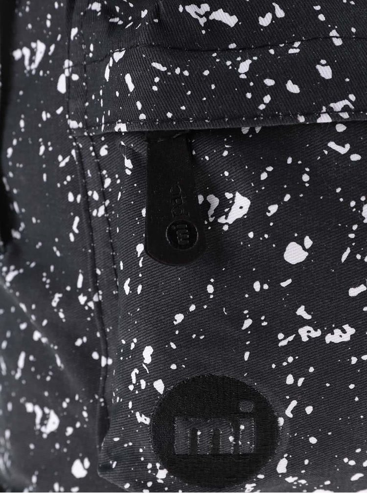 Černý batoh s bílým vzorem Mi-Pac Denim Spot