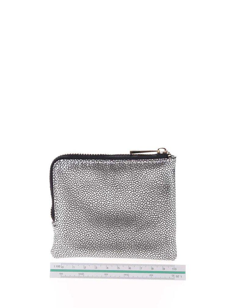 Lesklá vzorovaná peněženka ve stříbrné barvě Mi-Pac Coin Holder