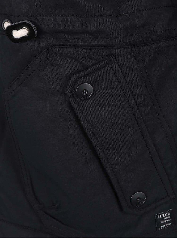 Černá bunda s kapucí Blend
