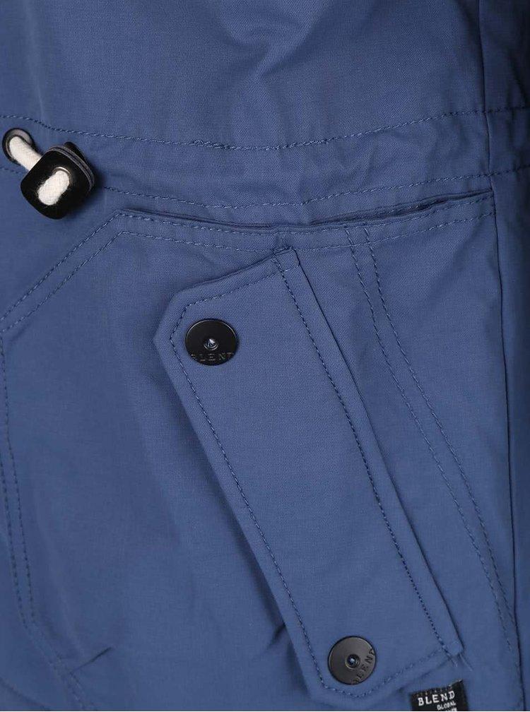 Modrá bunda s kapucňou Blend